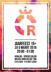Poster Jaarfeest 15+ 2016